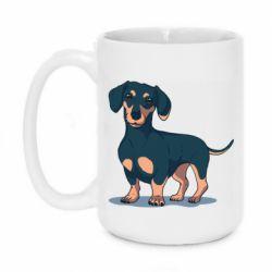 Кружка 420ml Cute dachshund