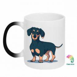 Кружка-хамелеон Cute dachshund
