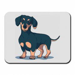 Коврик для мыши Cute dachshund