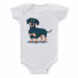 Дитячий бодік Cute dachshund