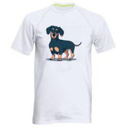 Мужская спортивная футболка Cute dachshund