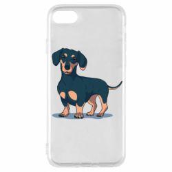 Чехол для iPhone 7 Cute dachshund