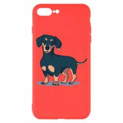 Чехол для iPhone 7 Plus Cute dachshund
