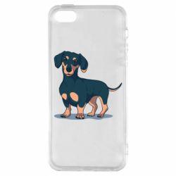 Чехол для iPhone5/5S/SE Cute dachshund