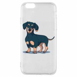 Чехол для iPhone 6/6S Cute dachshund