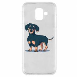 Чехол для Samsung A6 2018 Cute dachshund