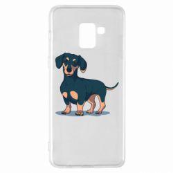 Чохол для Samsung A8+ 2018 Cute dachshund