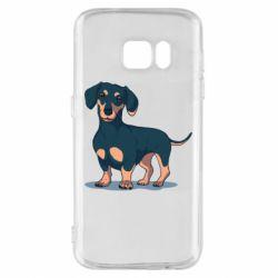 Чохол для Samsung S7 Cute dachshund