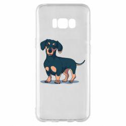 Чохол для Samsung S8+ Cute dachshund