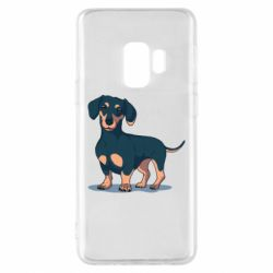 Чехол для Samsung S9 Cute dachshund