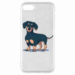Чехол для iPhone 8 Cute dachshund