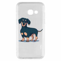 Чехол для Samsung A3 2017 Cute dachshund