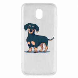 Чехол для Samsung J5 2017 Cute dachshund