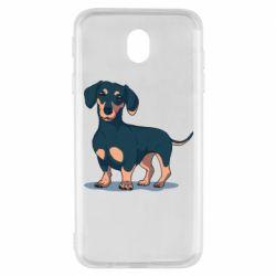 Чохол для Samsung J7 2017 Cute dachshund