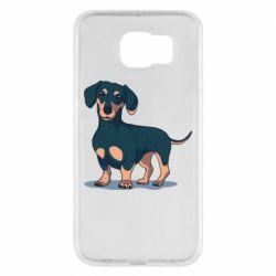 Чехол для Samsung S6 Cute dachshund