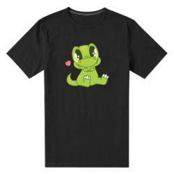Чоловіча стрейчева футболка Cute dinosaur