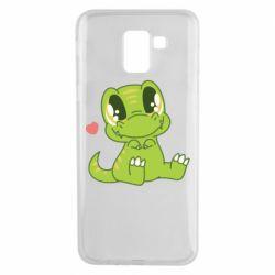 Чохол для Samsung J6 Cute dinosaur