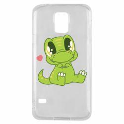 Чохол для Samsung S5 Cute dinosaur