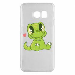 Чохол для Samsung S6 EDGE Cute dinosaur
