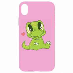 Чехол для iPhone XR Cute dinosaur