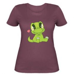 Жіноча футболка Cute dinosaur