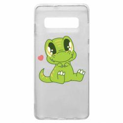 Чохол для Samsung S10+ Cute dinosaur