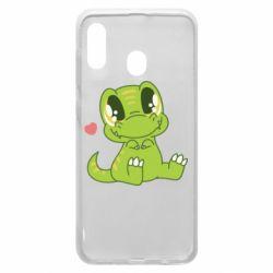 Чохол для Samsung A20 Cute dinosaur