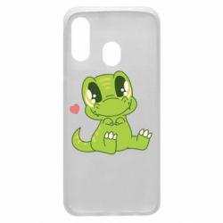 Чохол для Samsung A40 Cute dinosaur