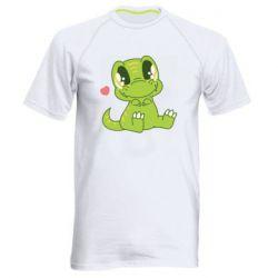 Чоловіча спортивна футболка Cute dinosaur