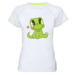 Жіноча спортивна футболка Cute dinosaur