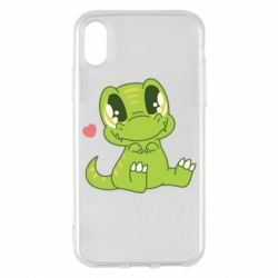 Чехол для iPhone X/Xs Cute dinosaur