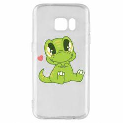 Чохол для Samsung S7 Cute dinosaur