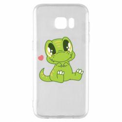 Чохол для Samsung S7 EDGE Cute dinosaur