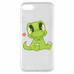 Чехол для iPhone 8 Cute dinosaur