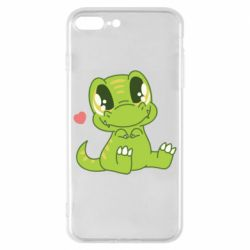 Чехол для iPhone 8 Plus Cute dinosaur