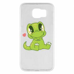 Чохол для Samsung S6 Cute dinosaur