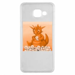 Чохол для Samsung A3 2016 Cute dragon with skulls