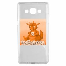Чохол для Samsung A5 2015 Cute dragon with skulls