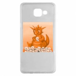 Чохол для Samsung A5 2016 Cute dragon with skulls