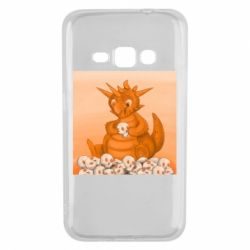 Чохол для Samsung J1 2016 Cute dragon with skulls