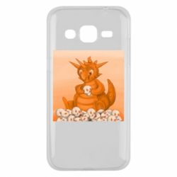 Чохол для Samsung J2 2015 Cute dragon with skulls