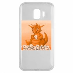 Чохол для Samsung J2 2018 Cute dragon with skulls
