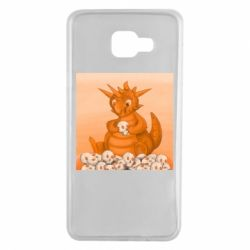 Чохол для Samsung A7 2016 Cute dragon with skulls