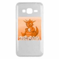 Чохол для Samsung J3 2016 Cute dragon with skulls