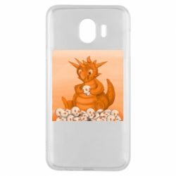 Чохол для Samsung J4 Cute dragon with skulls