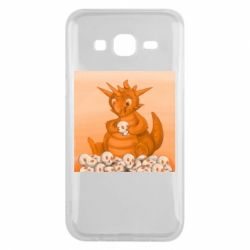 Чохол для Samsung J5 2015 Cute dragon with skulls
