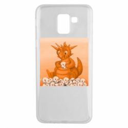 Чохол для Samsung J6 Cute dragon with skulls