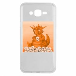 Чохол для Samsung J7 2015 Cute dragon with skulls
