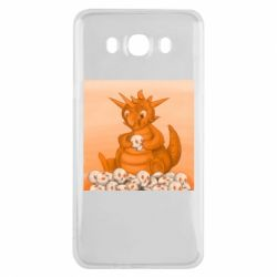 Чохол для Samsung J7 2016 Cute dragon with skulls