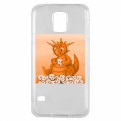 Чохол для Samsung S5 Cute dragon with skulls